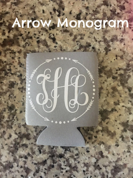 Custom Monogram Koozie