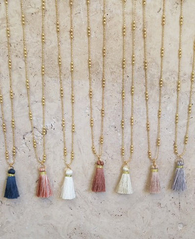Mini Tassel Necklaces-Multiple Colors