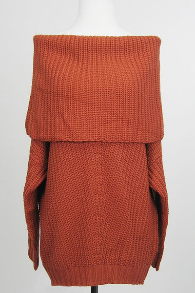 Rust OTS Tunic Sweater