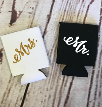 Mr & Mrs Koozie Set