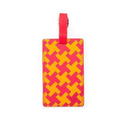 Basketweave Luggage Tag