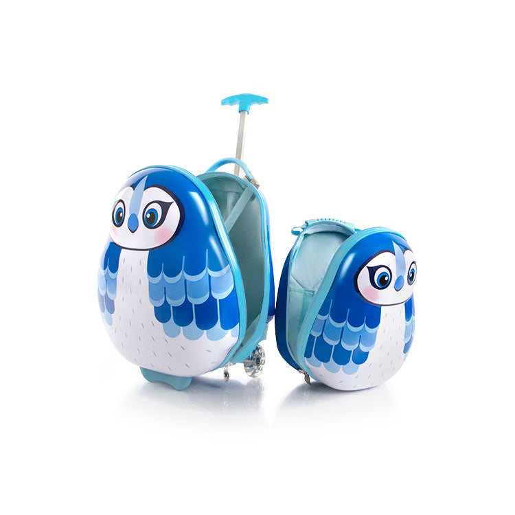 Travel Tots Blue Jay - Kids Luggage & Backpack Set