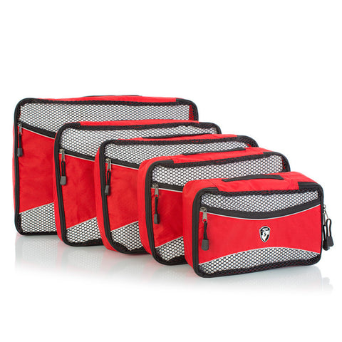 Ecotex 5 pc Packing Cube Set™ *NEW* with Front Zippered Pocket