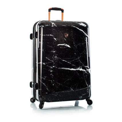 "Marquina - Black Marble Fashion Spinner® 21"" & 30"" - 2pc. Set"