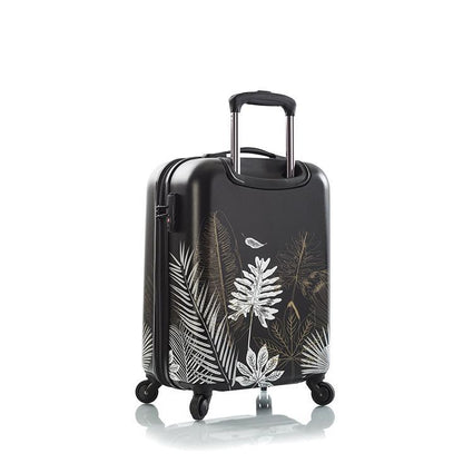 "Oasis Black/Gold Leaf 21"" Fashion Spinner Carry-on"