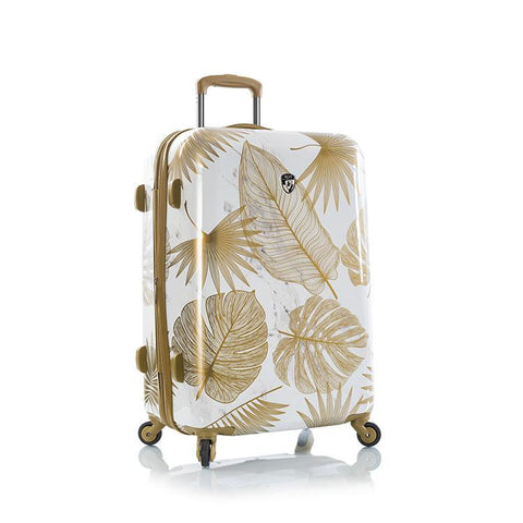 "Oasis White/Gold Leaf 26"" Fashion Spinner"