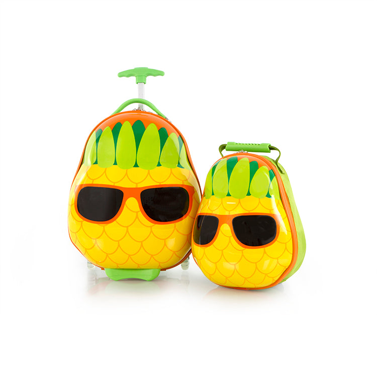 Travel Tots Pineapple - Kids Luggage & Backpack Set