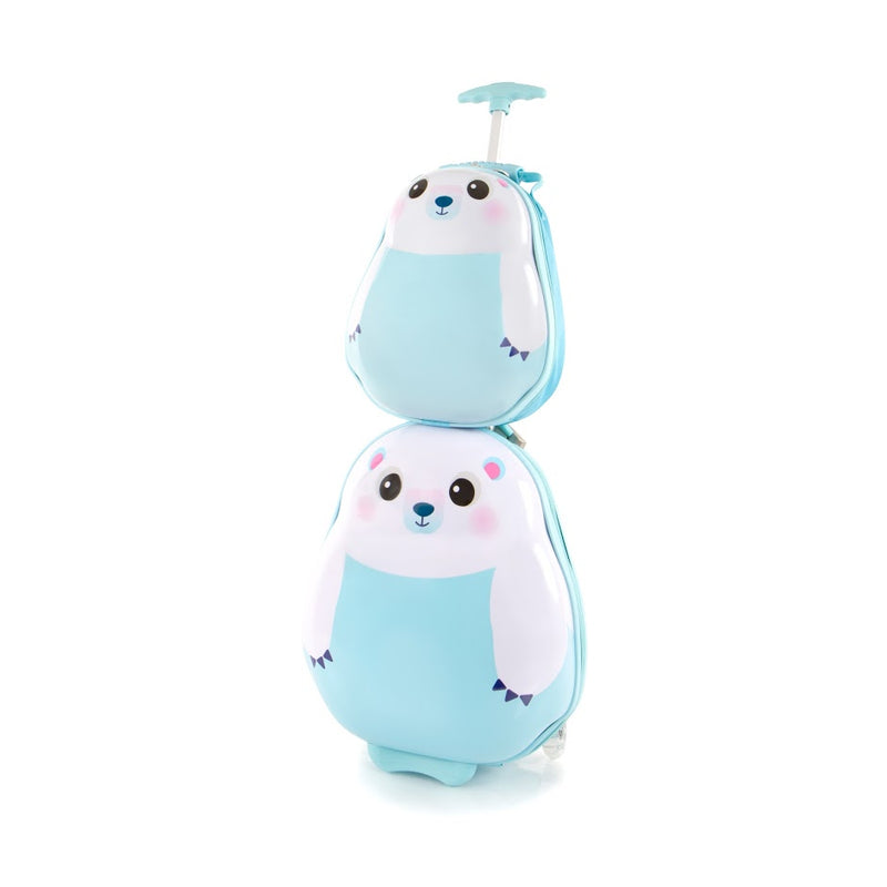 Travel Tots Polar Bear - Kids Luggage & Backpack Set