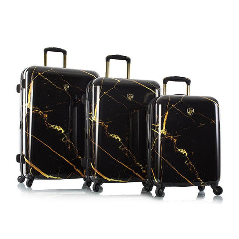Portoro - Black Marble Fashion Spinner 3pc. Set