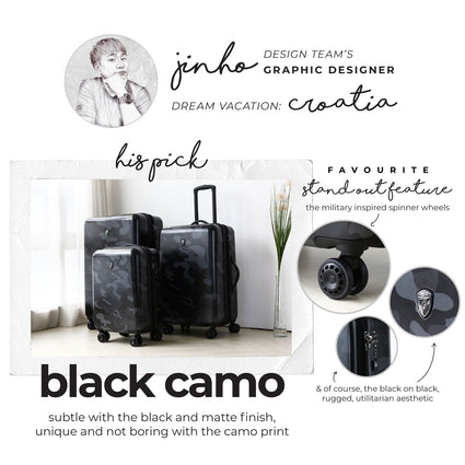 "Black Camo 30"" Fashion Spinner®"