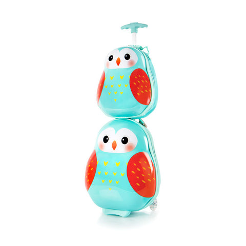 Travel Tots Owl - Kids Luggage & Backpack Set