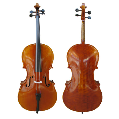 Hand made high quality Chinese cello new but with neck repair 4/4 (out on approval)