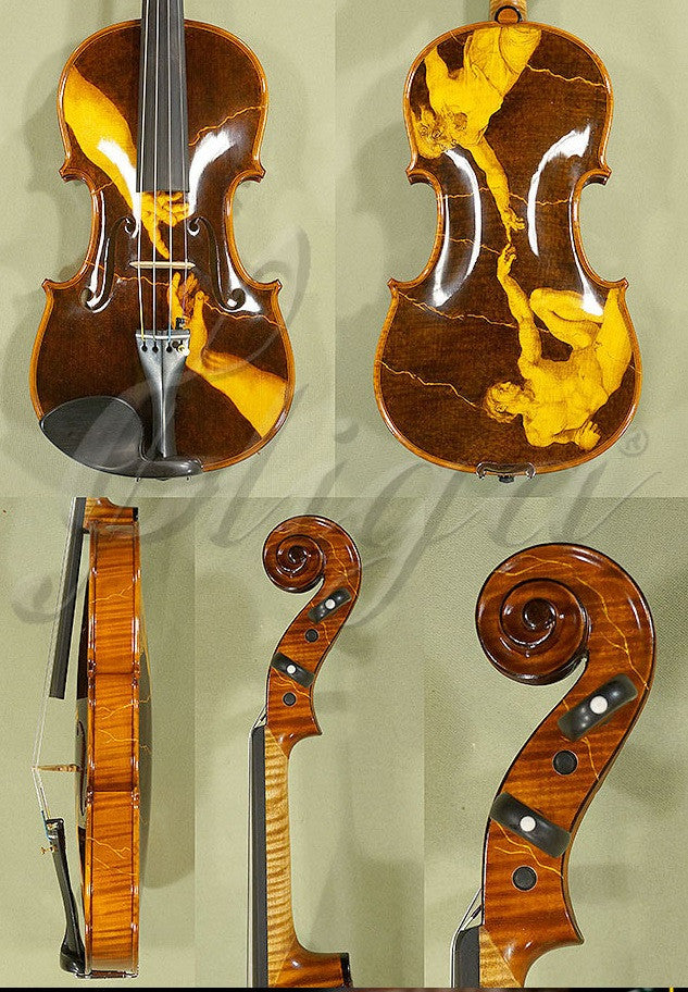 Gliga Master pyrographed creation of Adam violin 4/4 only