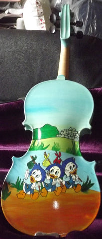 Donald Duck painted violin 1/2 size Gliga Gems 1