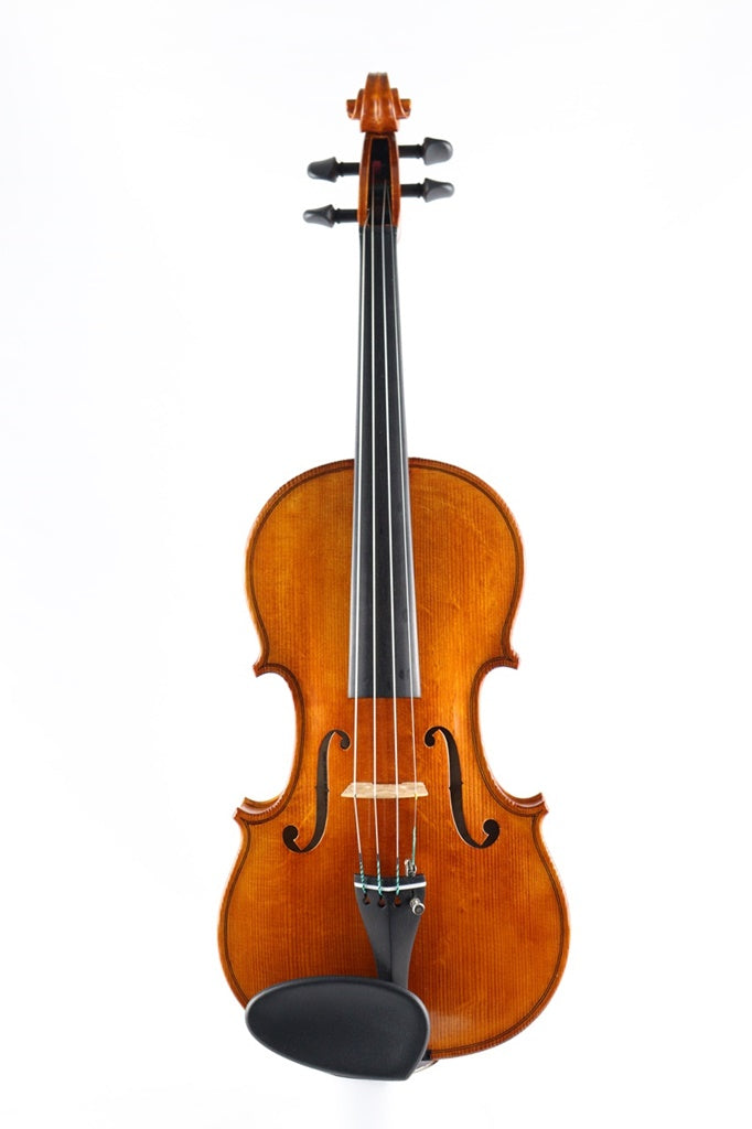 High quality violin hand varnished and set up in England.  One piece back.  Exclusive to Elida Violins.