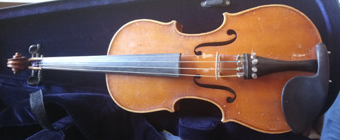 Vintage 3/4 size Czech Strad violin, well flamed with very flat arching
