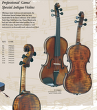 Gama special antiqued violin 4/4