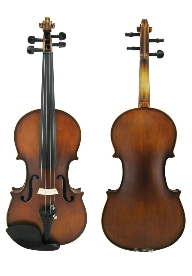 Solid wood Chinese violin outfit 3/4 1/2 and 1/8 sizes only.  Prelude strings, four adjusters.
