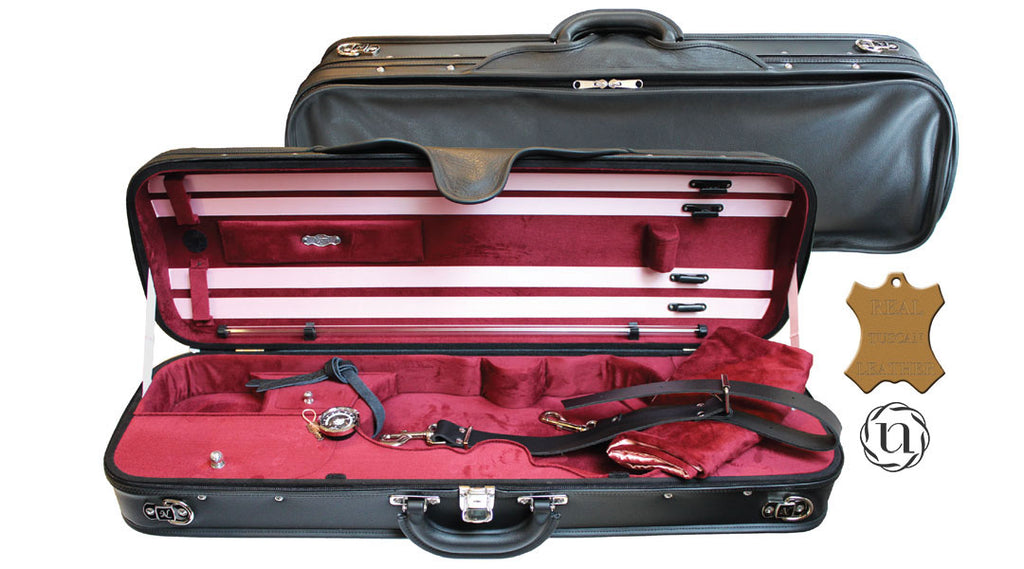 Negri Milano leather violin case 4/4