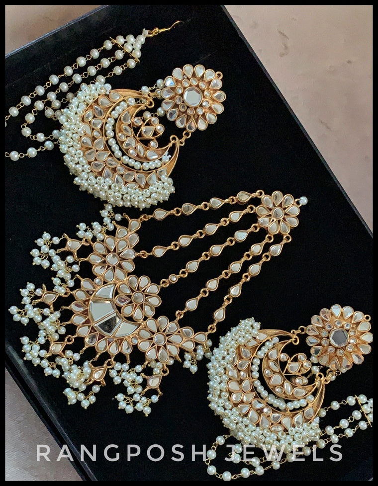 Heer earrings & Abroosh jhoomar