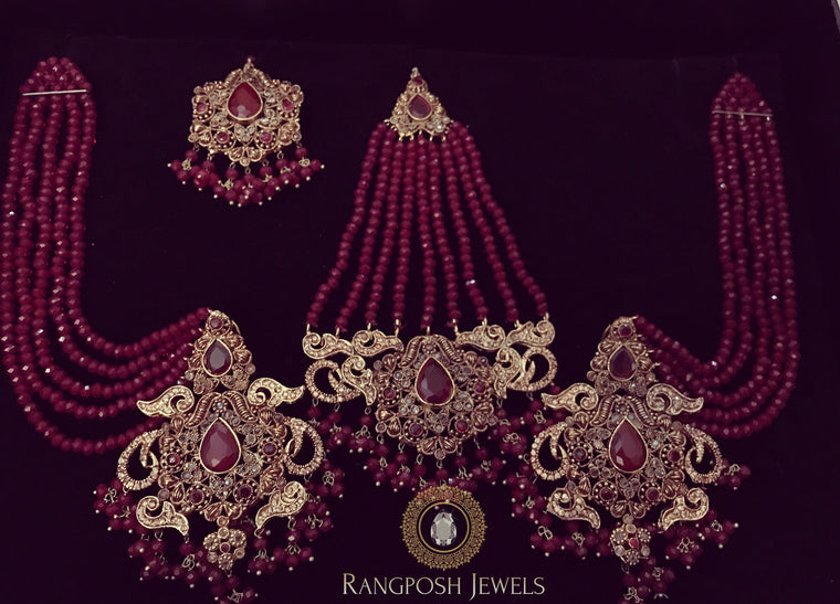Husn-e-Ara earrings jhoomar set