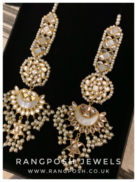 Anaar Kundan earrings