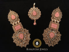Grand Mahnoor Earrings and tikka