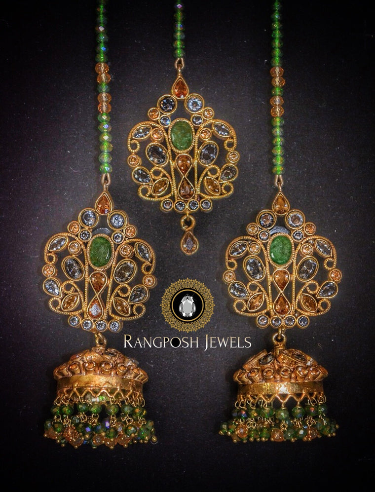Suhana earrings & tikka set