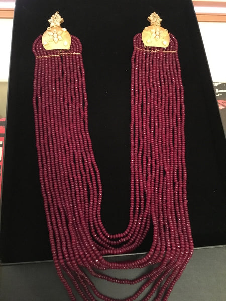Brazilian Ruby/Emerald Mala