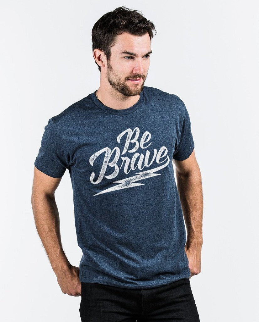 Be Brave Premium Fitted Tee Blue