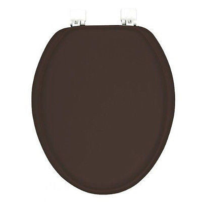 Silver Elongated Toilet Seat