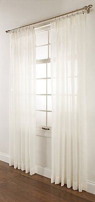 SPLENDOR BATISTE CURTAINS PINCH PLEATED SHEER DRAPERIES