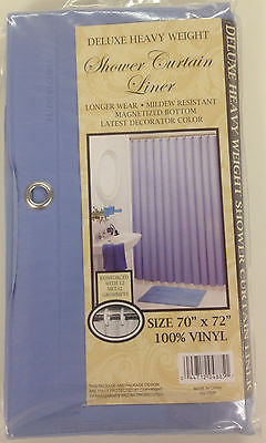 VINYL SHOWER LINER WITH MAGNETS AND GROMMETS BLUE