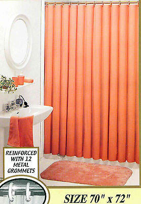 SET OF 3 VINYL SHOWER CURTAIN LINERS WITH MAGNETS AND METAL GROMMETS