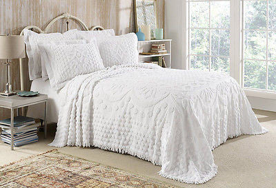Kingston Tufted Chenille Bedspread And Pillow Sham Set