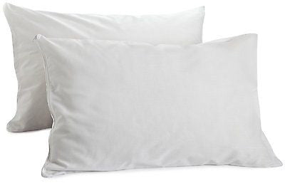 SET OF 2 100% COTTON PILLOW COVERS WITH ZIPPERS, 200 THREAD COUNT