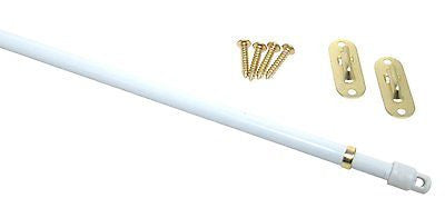 "CURTAIN SASH RODS, DOOR PANEL ROD - 11"" TO 19"" - #820"