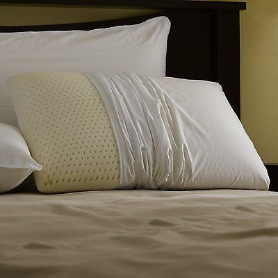TALALAY LATEX FOAM BED PILLOW WITH ZIPPERED PILLOW COVER
