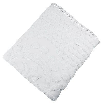 KINGSTON TUFTED CHENILLE BEDSPREAD AND PILLOW SHAM SET, ALL COTTON