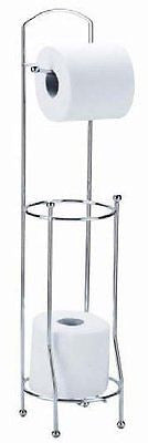 Floor Standing Chrome Toilet Paper Roll Holder
