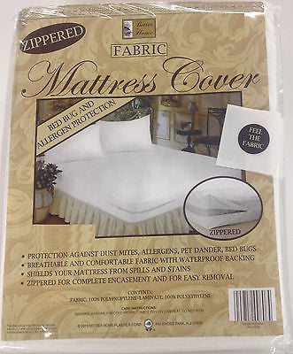 Zippered Fabric Mattress Cover, Protects Against Bed Bugs