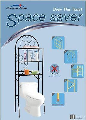 Bathroom Space Saver, 3 Shelf Etagere, Black