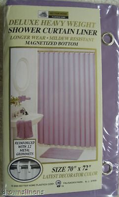 VINYL SHOWER LINER WITH MAGNETS AND GROMMETS LILAC