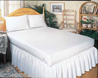 VINYL WATERPROOF ZIPPERED MATTRESS COVER - QUEEN