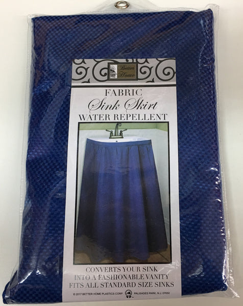 MOSAIC FABRIC SINK SKIRT, SELF STICK, WATER REPELLANT