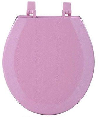HARD WOOD STANDARD ROUND TOILET SEAT TEA ROSE PINK
