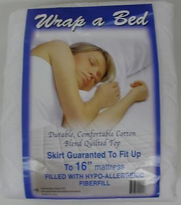 QUILTED MATTRESS BED PAD FITS UP TO 16 inch  DEEP MATTRESS POLY COTTON