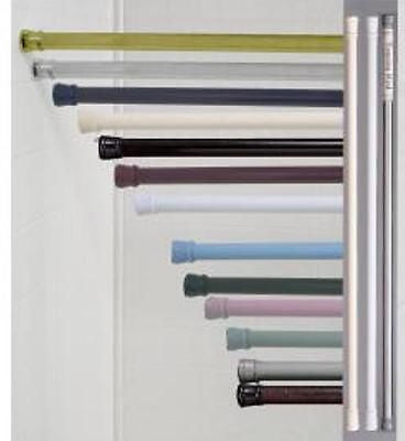 SHOWER CURTAIN ROD, TWIST TIGHT TENSION BAR, WHITE