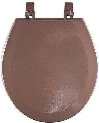 HARD WOOD STANDARD ROUND TOILET SEAT - CHOCOLATE BROWN