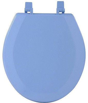 HARD WOOD STANDARD ROUND TOILET SEAT - BLUE